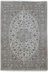 Kashan Lowest Price Area Rugs Ivory 7 X 10 Persian Signed Rug Handmade Rug