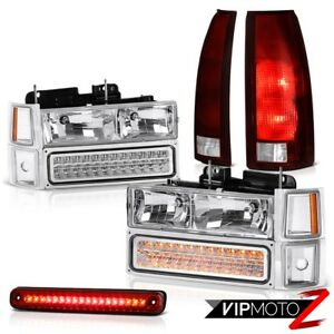 94 98 Silverado 2500 Red High Stop Lamp Tail Lamps Headlamps Bumper Corner Pair