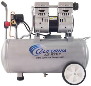 Electric Air Compressor 8 0 Gal 1 0 Hp Single Stage Ultra Quiet And Oil free