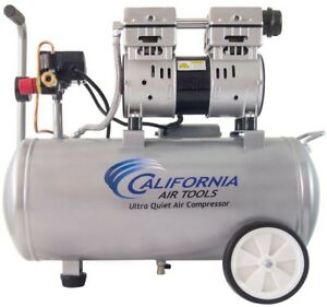 California Tools Electric Air Compressor 8 0 Gal 1 0 Hp Ultra Quiet Oil Free New