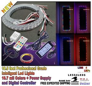 Rgb Color Chasing Store Front Led Lights Window Display Lights Remote Control