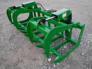 John Deere Tractor Loader Attachment 72 Dual Cylinder Root Grapple Free Ship