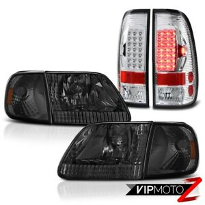 97 03 Ford F150 Xlt Tinted Parking Headlamps Bright Clear Smd Rear Tail Lights
