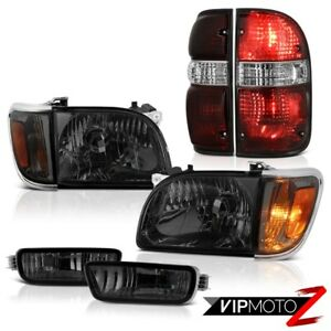 01 04 Toyota Tacoma 4x4 Tail Brake Lamps Dark Smoke Headlamps Bumper Assembly