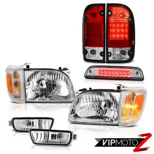 01 04 Toyota Tacoma Sr5 High Stop Light Rosso Red Taillamps Headlights Bumper