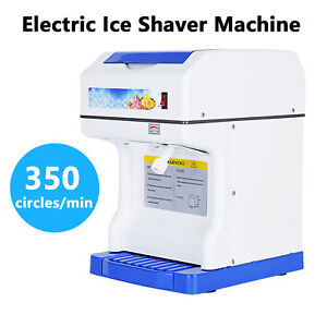 Modern Electric Ice Crusher Ice Shaver Machine Snow Cones Maker Tabletop