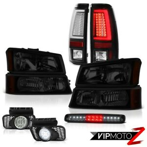 03 06 Chevy Silverado Tail Lamps Headlamps High Stop Lamp Euro Chrome Fog Led