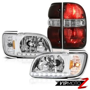 01 04 Toyota Tacoma Offroad Tail Brake Lamps Sterling Chrome Headlights Bumper