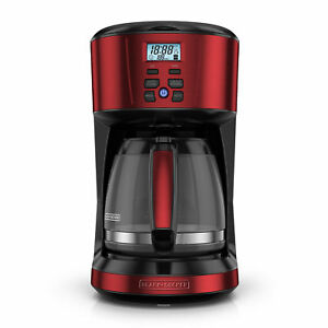BLACK+DECKER Programmable 12-Cup Coffee Maker With Thermal Carafe Red