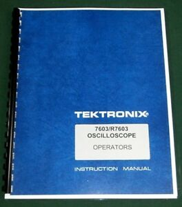 Tektronix 7603 Instruction Manual Comb Bound Plastic Protective Covers