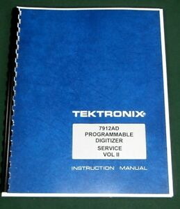 Tektronix 7912ad Service Manual Vol Ii W 11 x17 Foldouts Protective Covers