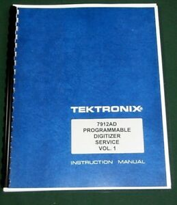 Tektronix 7912ad Service Manual Vol 1 Comb Bound Protective Plastic Covers