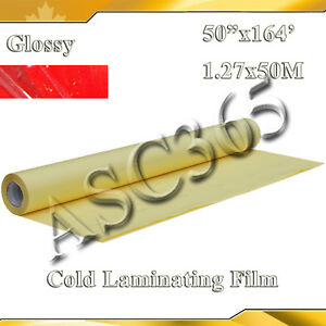 2mil Thickness 1 38x54yard Uv Glossy Clear Vinyl Cold Laminating Film