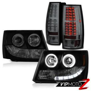 2007 14 Chevrolet Suburban Tahoe Led Bulbs Tail Lights Halo Rim Headlights Smoke