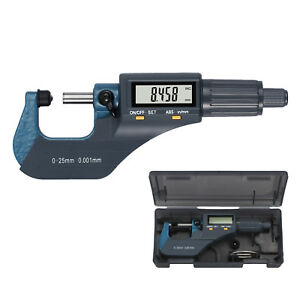 0 1 Digital Micrometer Caliper External Electronic Large Lcd Gauge Metric Us