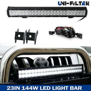 23 144w Led Light Bar Combo wiring Kit For Offroad Truck Atv 4wd Toyota Tacoma
