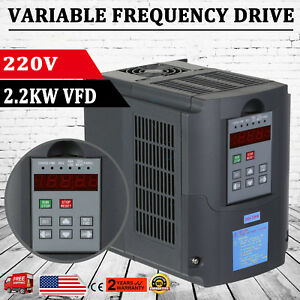 2 2kw 220v 3hp Vfd Vsd Variable Frequecy Drive Inverter Motor Single Phase