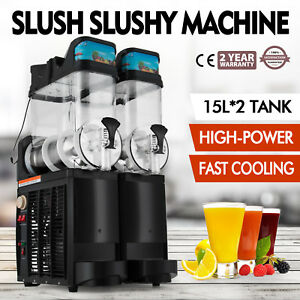 Slush Making Machine Drink Slushy Smoothie Maker 15lx2 30l Juice 110v