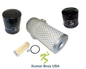New Kubota Filter Kit Air fuel oil hst B6100hstd B6100hste B7100hstd B7100hste