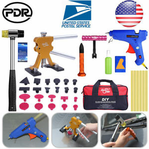 Paintless Hail Repair Pdr Tools Dent Lifter Puller Ding Removal Car Truck Kit