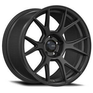 Konig Ampliform Rim 19x10 5 5x4 5 Offset 23 Dark Metallic Graphite qty Of 4