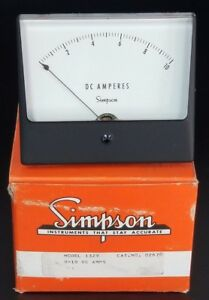 Nib Simpson Model 1329 Cat No 02870 Panel Meter 0 10 Dc Amps