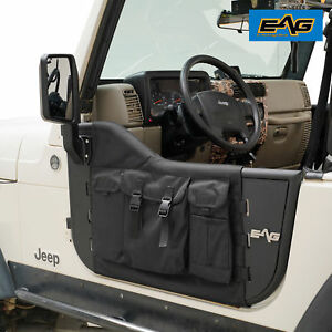 Eag 97 06 Jeep Wrangler Tj Pocket Steel Tubular Doors Kits With Side View Mirror
