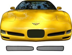 Ccg Mesh Grill Inserts For 97 04 Chevy Corvette Grille Pre Cut Black With Trim