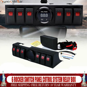 6 Rocker Switch Panel Cotrol System Relay Box Assemblies For Jeep Wrangler Jk