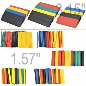 328 Pc 2 1 Polyolefin Heat Shrink Insulation Shrinkable Tube Sleeve Wrap Wire