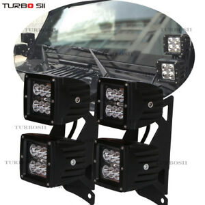 For 2007 2017 Jeep Wrangler Jk A pillar Dual Mounting Bracket 3 Led Light Bar