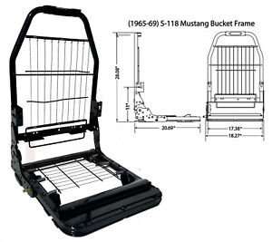S 118 Mustang 21 Seat Frame Driver Passenger Side With Foam Package