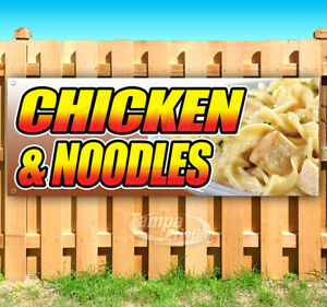 Chicken And Noodles Advertising Vinyl Banner Flag Sign Many Sizes Usa