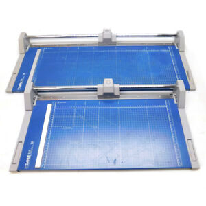 lot Of 2 Dahle 552 554 Professional Large Format Rotary Paper Trimmers