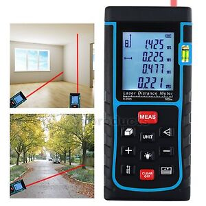 Digital Laser Distance Meter 100m Area Volume Pythagorean Measurer Range Finder