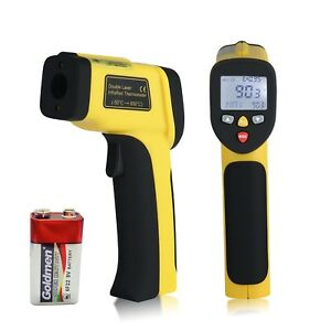 Digital Dual Laser Temperature Gun Non contact Surface Ir Infrared Thermometer W