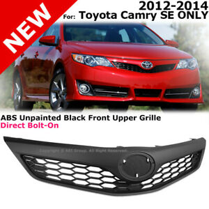 For Toyota Camry Se Style 2012 2014 Front Bumper Upper Hood Grille Black