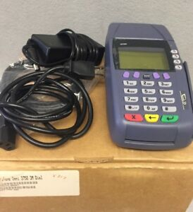 Verifone Omni 3750 3m Dial Credit Card Printer W Cables In It s Original Box