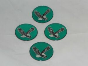 4 Green Eagle Bird Wheel Rim Center Cap Round Sticker Logo 1 75 44mm Dia