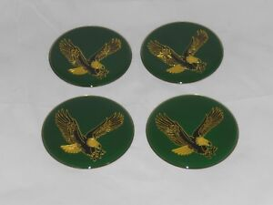 4 Green Eagle Bird Wheel Rim Center Cap Round Sticker Logo 2 75 70mm Dia