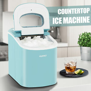 Portable Electric Ice Maker Countertop Ice Compact Machine 26lbs Ice day Blue