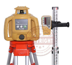 New Topcon Rl h5b Self leveling Rotary Laser Level Package Transit rl h4c inch