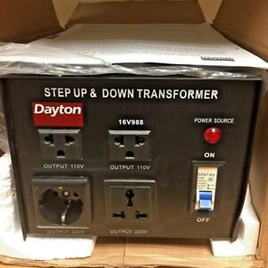 Dayton 16v988 Step Up down Voltage Converter 3kva 16v988