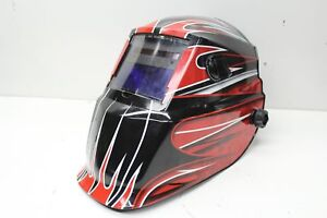 Lincoln Electric Red Fierce Variable shade Auto darkening Helmet K3063 1