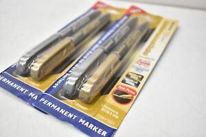 Monami Acculiner Metallic Permanent Marker 2 Packs Of 2 Silver And Gold 15531