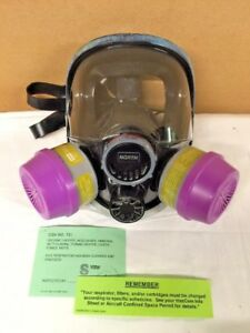 New North Full Face Respirator Mask With Filters Size S Small