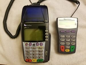 Verifone Omni 3750 Credit Card Processor W Verifone Pinpad 1000se