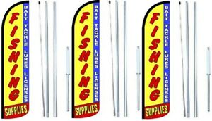 Fishing Supplies Windless Flag With Hybrid Pole Set 3 Pack