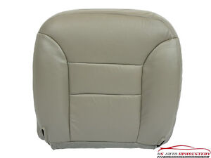 95 99 Gmc Suburban 1500 driver Side Bottom Replacement Leather Seat Cover Gray