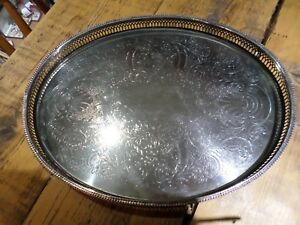 Silver Plated Butlers Tray With Feet